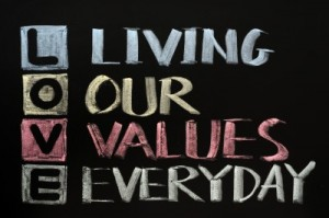 love living our values everyday
