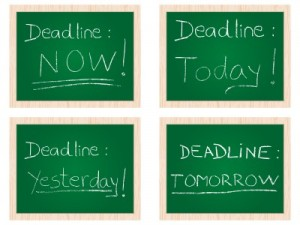 procrastination - today, tomorrow, yesterday, now